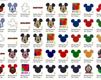 Disney's Mickey Mouse Embroidery Design Set 1