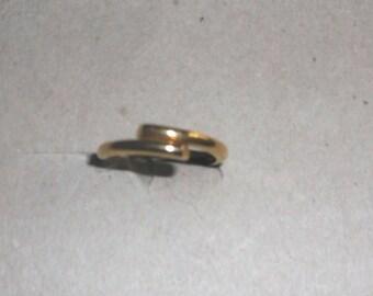 14K Gold Overlap band Ring stackable ring Vintage SALE