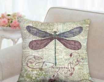 Rustic Dragonfly Pillow