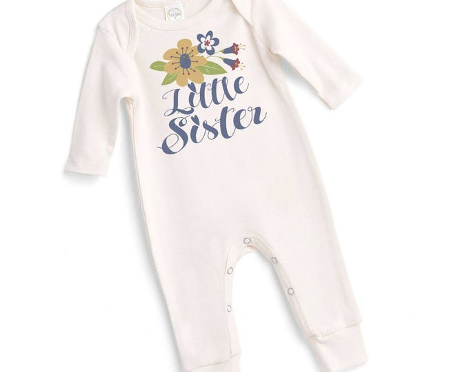 Little Sister Coming Home Outfit, Baby Sister Onesie, Newborn Sister Outfit, Baby Girl Take Home Outfit, Baby Little Sister Romper Tesababe