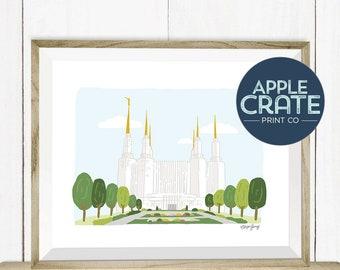 Washington DC Temple | Poster | Print | Inspirational | LDS Temple