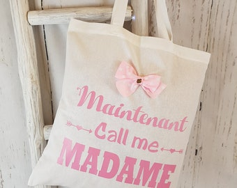 The tote bag of the bride! Special wedding or bachelor party girl