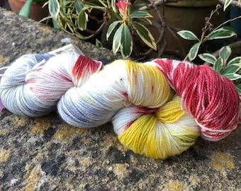 """100grms hand painted merino/nylon yarn """" sprinkles"""""""