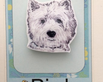 Cute Westie Pin Brooch