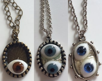 Antique Doll Eye Necklace Collection