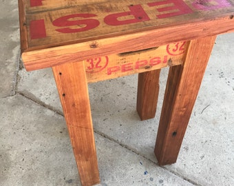 Antique Pepsi Crate Table