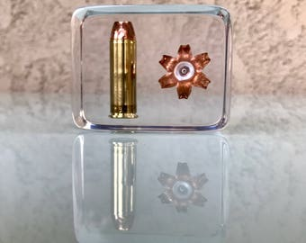 Before/After .454 Casull Barnes Solid Copper Display Piece - Fantastic Display/Educational/Conversation Piece