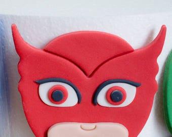 Pj Masks Fondant Etsy