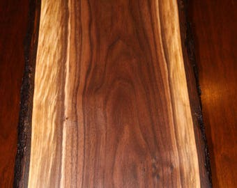 "Natural Solid Walnut Chopping Block, 14"" by 10"" by 1-1/4"" thick"