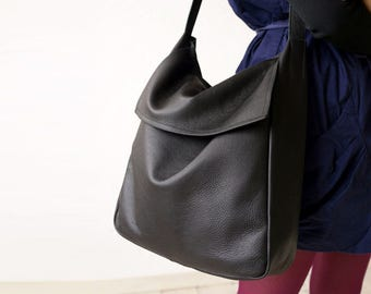 FOKS FORM Tote Bag 08, Minimal leather tote bag, handbag, shoulder bag, everyday bag