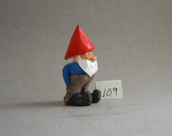 Wood carved Garden Gnome   #109