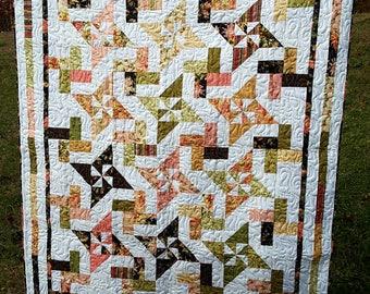 Handmade Pinwheel Star Large Adult Snuggle Quilt