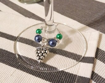 Four wine lovers wine glass charms