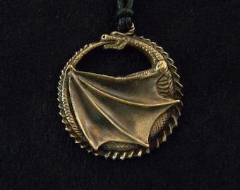 Dragon Ouroboros: Bronze Pendant