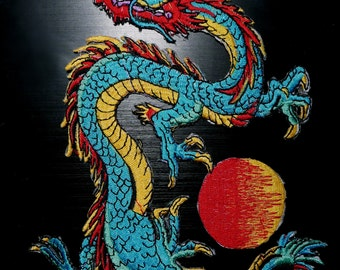 Chinese style Dragon patch Iron On Patch