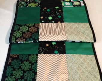 Quilted 9 Square St. Patricks Tablerunner