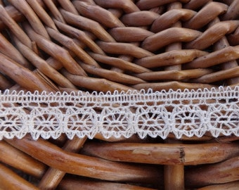Vintage 10 meter Fine Ecru Lace Trim Ribbon Decorative