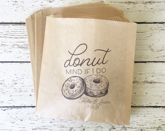 Wedding Favor Bag, Personalized Wedding Favor Bag , Favor Bag, Wedding Favor Bag, Personalized Donut Favor Bag,  Set of 10, 25, 50