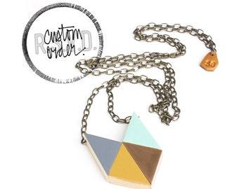 RSVD x JILL / Geometric Puzzle Pendant, Winter 2013 Colors