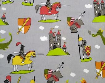 Fabric children - Knights - castles - Dragons