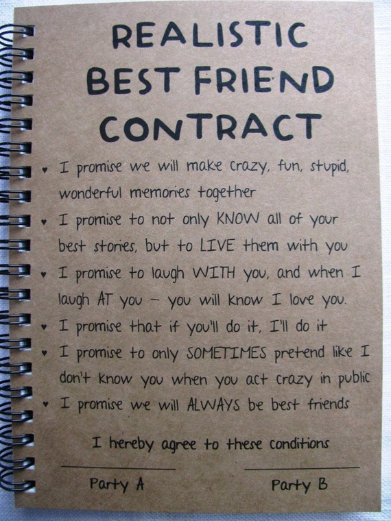 Realistic best friend contract 5 x 7 journal realistic best friend contract 5 x 7 journal thecheapjerseys Choice Image