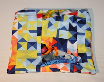 multicolored patch Pocket