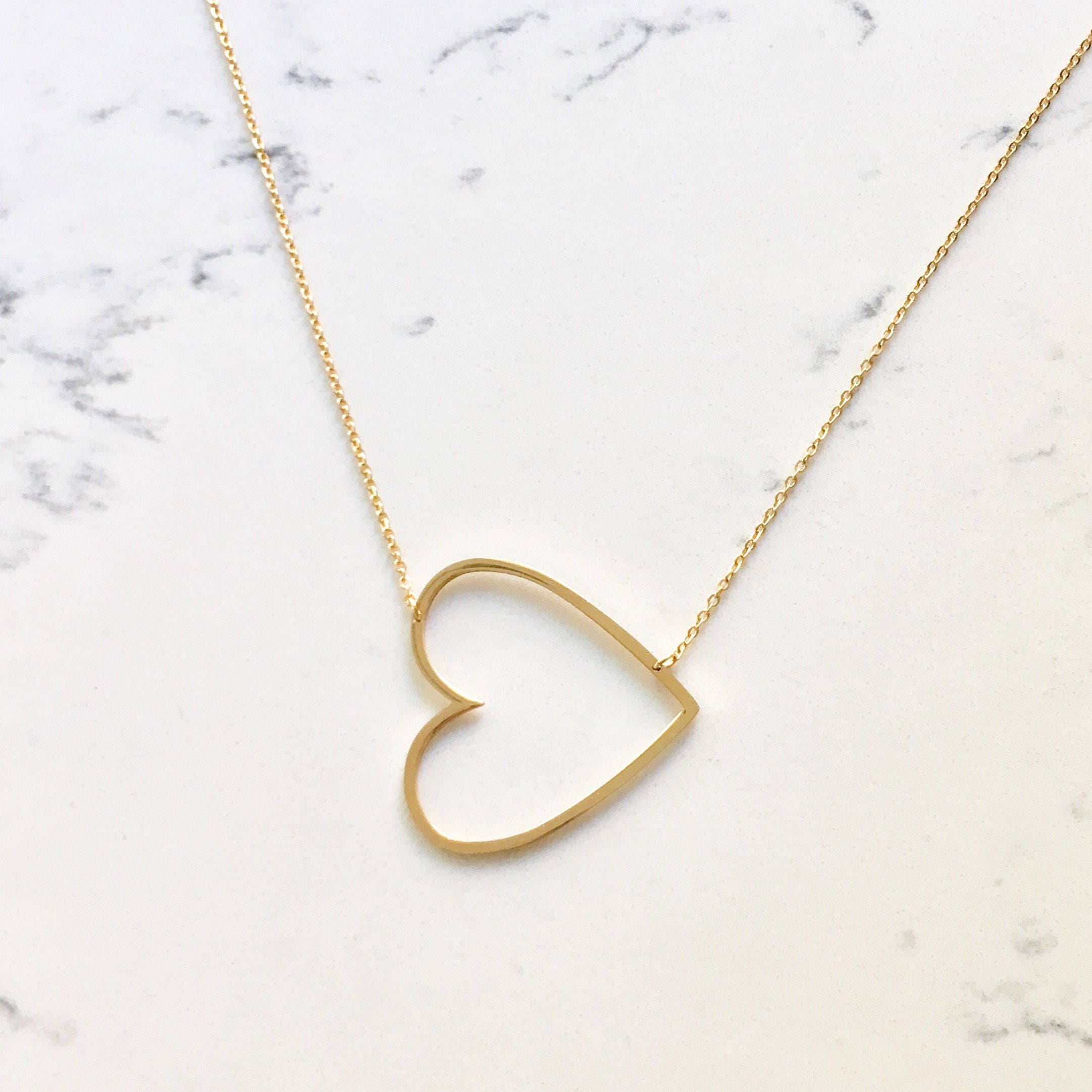 all initial heart jewellery necklace vana minthologie shop