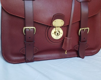 hand made mans leather briefcase