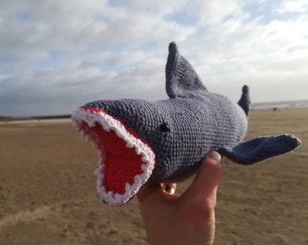 Amigurumi Shark,  Stuffed Animal, Handmade Crochet Sea Creature, Shark