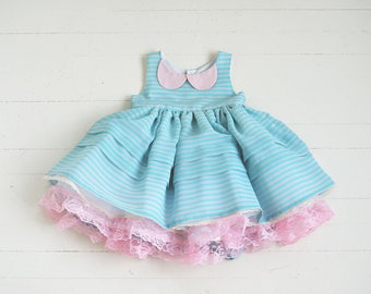 Soda Pop Shop Dress in Blue