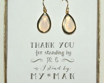 Set of 6 Opal Bridal Earrings, Opal bridal Jewelry, Opal Wedding Earrings, Opal Earrings, Opal Gold Earrings, Gold Opal Earrings, ES6