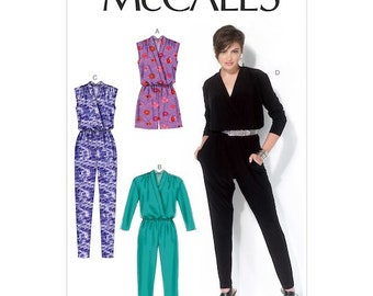 McCall's M7099 Size 6-14 or 14-22  Misses' Blouson-Bodice Romper and Jumpsuit Sewing Pattern / Uncut/FF