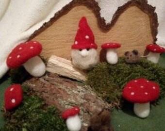 Felted Magic World Lucky Elf, felted Imp Fantasy