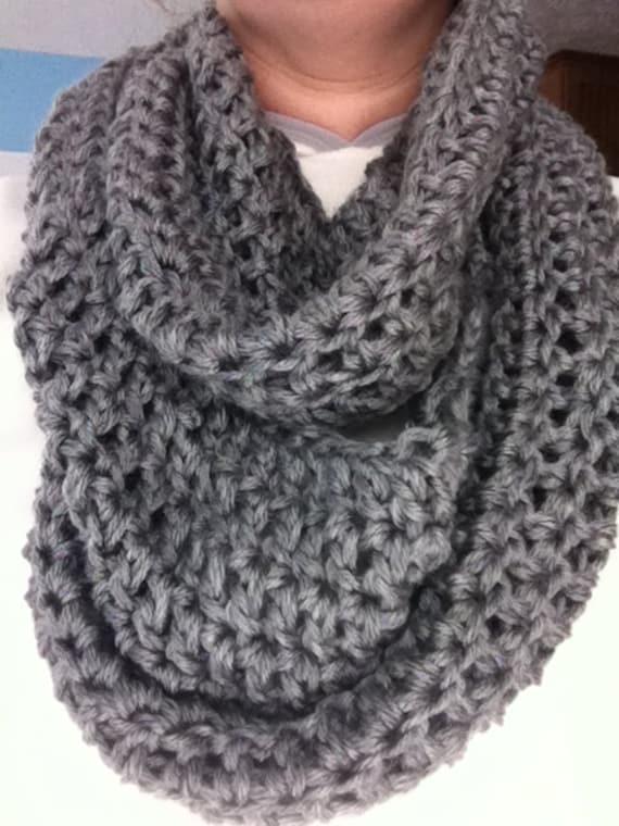 Women S Crochet Infinity Scarf Crochet Scarf Chunky