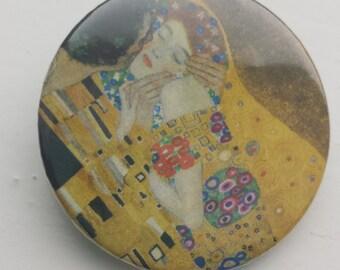 Gustav Klimt The Kiss 38 mm badge