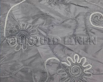 Tablecloths in Silver Eyelash Embroidery  - Ideal for Weddings & Bridal Events