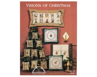 Christmas Cross Stitch Pamphlet, Christmas Ornaments, Christmas Pillows, Christmas Decorations, Homespun Elegance, by NewYorkTreasures