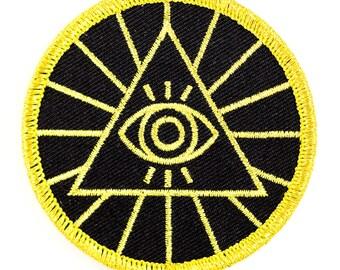 Illuminati Embroidered Iron-On Patch
