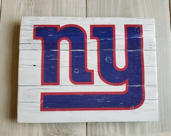 Ny giants sign etsy new york giants handmade sign ny giants vintage look reclaimed wood sign wall sign negle Images