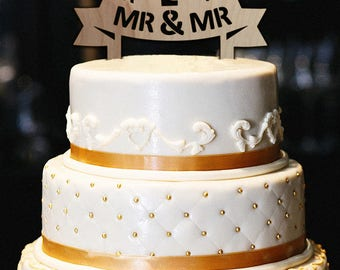 Mr and Mr Cake Topper, Customized Wedding Cake Topper, Custom Cake Topper Silhouette, Personalized Wedding Cake Topper, Wood Cake Topper