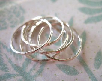 Shop SALE... Knuckle Ring, Above Knuckle Ring Midi Ring Stack Ring, Thin Stacking Band Ring - Sterling Silver, 1 ring,  sr1-1