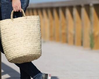CRETA BASKET BAG, Straw Market Bag, Straw Market bag, Panier Rond, Runder Strohbeutel, Shopping basket, Cesta Redonda, kurv, Korb, корзина
