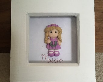 Bridesmaid / flower girl figure frame, personalised.  Thank You memento gift