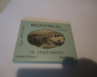 Vintage Montreal Canada 18 Snapshots Black and White Photos, collectable