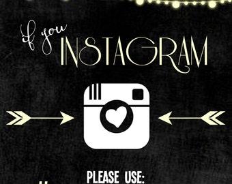 Customizable Wedding Instagram Sign