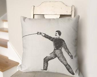 "19"" Fencer Throw Pillow"