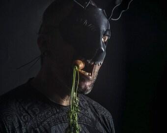 Bad Rabbit mask in black leather