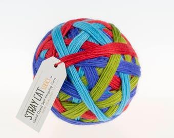 MOMENTUM - vibrant hand dyed self striping sock yarn