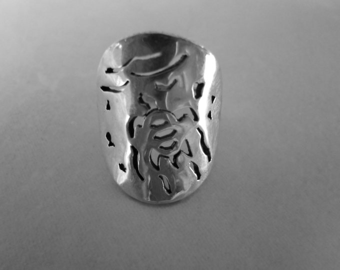 sea turtle ring sold back quarter size