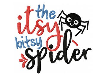 The Itsy Bitsy Spider Machine Embroidery Digital Download